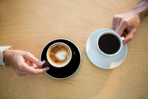 black coffee vs with creamer