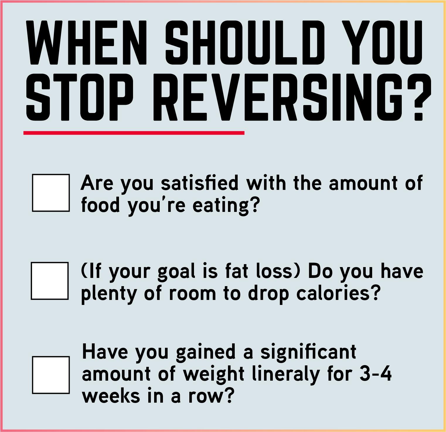 should you reverse diet